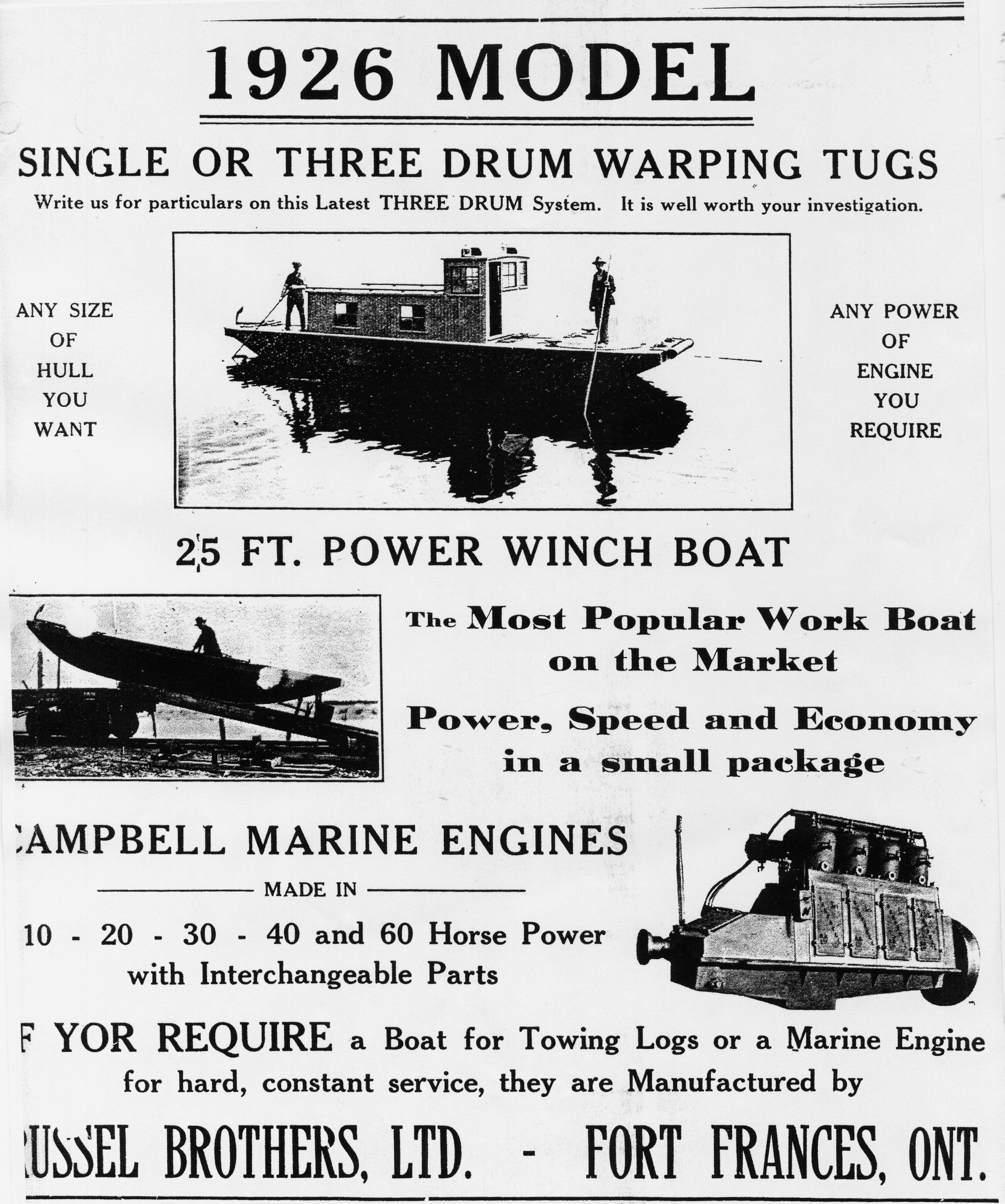 RUSSEL BROTHERS Ltd. Steelcraft winch boat and warping tug builders ...